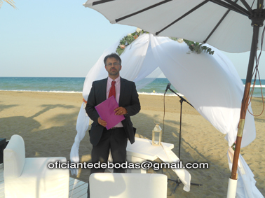 Oficiante boda Algeciras - Cádiz blessing ceremony English Spanish French