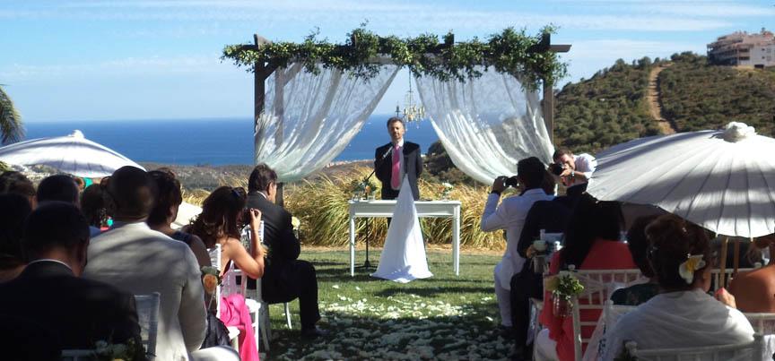 Civila bröllops officerare Malaga