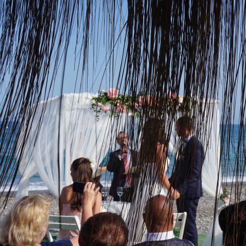 Ceremonia Bahia de Tanit · Torre del Mar en Español y Alemán