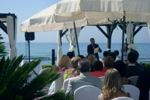 Civil ceremoni officiating La Cabanne Los Monteros F0