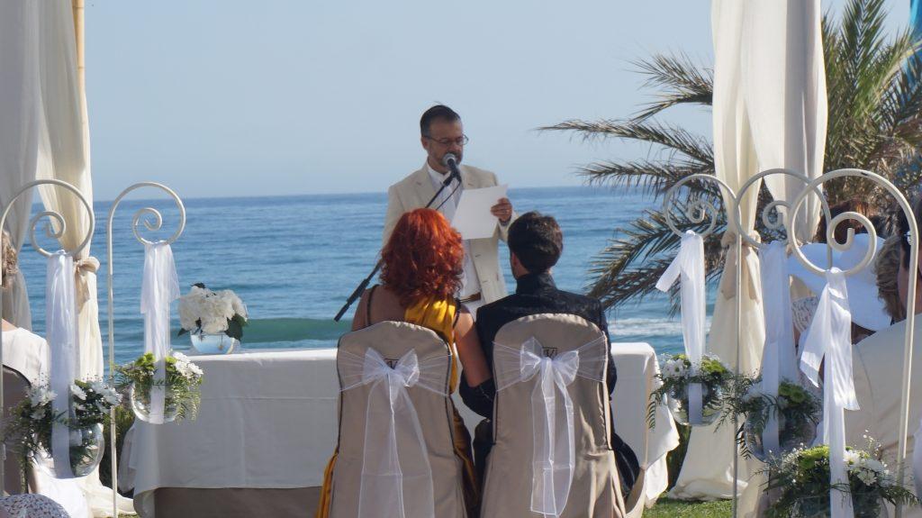 Wedding Minister At Vincci Estrella Del Mar Hotel In French Language