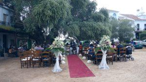 Свадебная гражданская церемония в Эль-Росио, Уэльва
