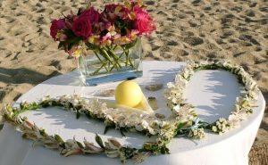 Ritual de los lazos de flores para bodas civiles