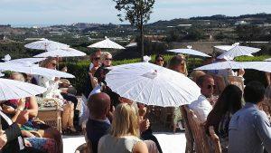 Ceremonia civil en hotel cortijo bravo, civila bröllopsceremonin på hotell, symboliskt bröllop i Spanien