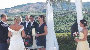 civila bröllopsceremonin på hotell, symboliskt bröllop i Spanien, Swedish ceremony in Spain