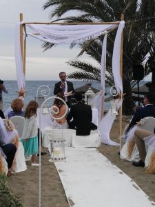 Blessing ceremony in English Spanish French Bodas Civiles Oficiant Celebrante Celebrant Hotel Guadalpin Marbella F02