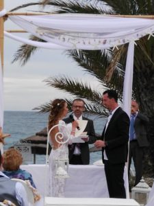 Blessing ceremony in English Spanish French Bodas Civiles Oficiant Celebrante Celebrant Hotel Guadalpin Marbella F04