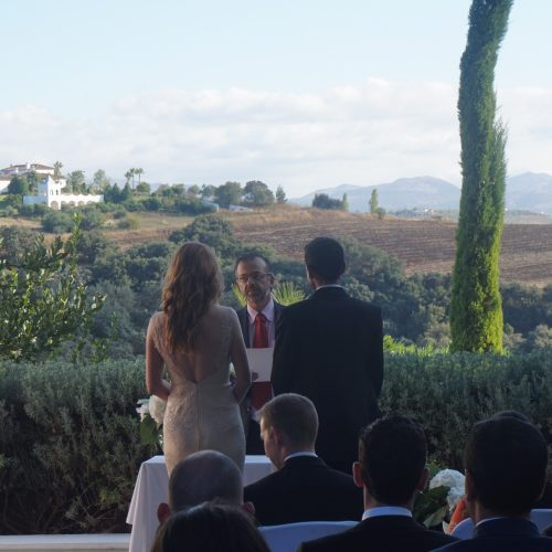 Wedding minister Ronda blessing ceremony