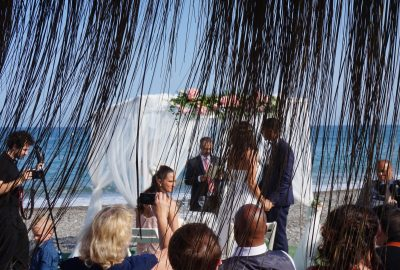 Bröllopsceremoni på restaurangen Bahia de Tanit · Torre del Mar · F01