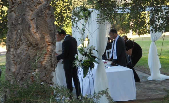 Bröllopsminister Tarifa välsignelse ceremoni engelska spanska franska