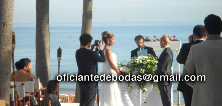 Bröllopsminister Chiclan de la Frontera, Cádiz välsignelse ceremoni engelska spanska franska