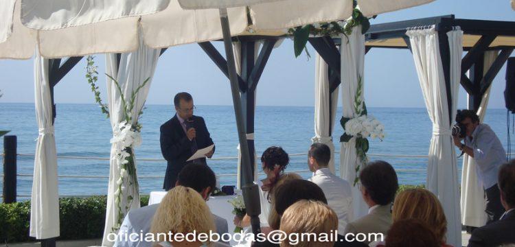 Officiant cérémonies Motril, Granada välsignelse ceremoni engelska spanska franska