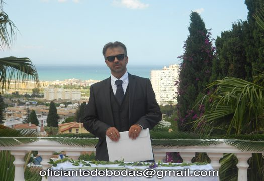 Bröllopsminister Almeria välsignelse ceremoni engelska spanska franska