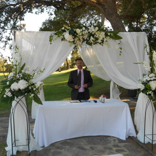 Civil ceremony La Almoraima Wedding minister Marbella · English and Spanish